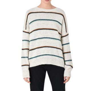 Isabel Marant Etoile Gatlin Striped Alpaca Oversized Sweater