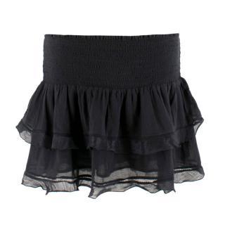 Isabel Marant Etoile smocked ruffle mini skirt