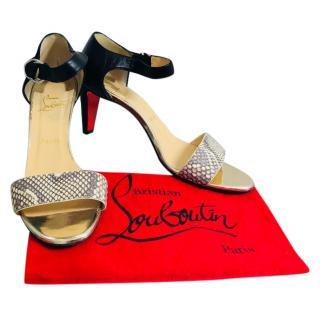 Christian Louboutin Snake Skin Sandals