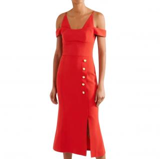 Rebecca Valance Red Midi Dress