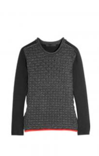 Alexander Wang Grey honeycomb knit Sweater