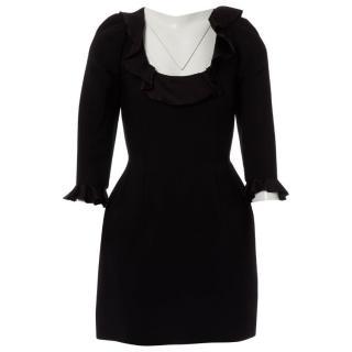 Lanvin Black Wool Dress