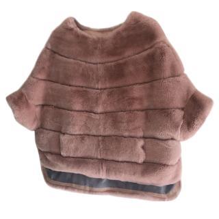 Bespoke pink rabbit Rex jumper-jacket