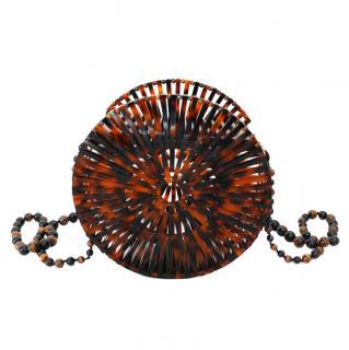Cult Gaia Luna Brown Acrylic Tortoiseshell Round Bag New w/Box/Dustbag