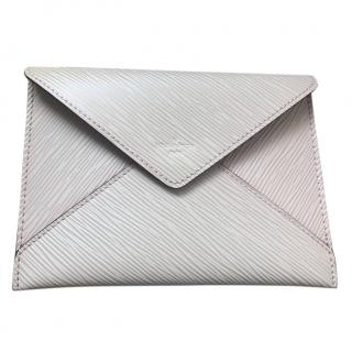 Louis Vuitton Epi Leather Clutch Bag Cream