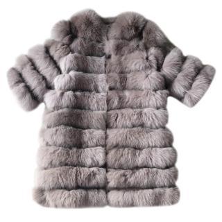 Bespoke fox fur versatile jacket