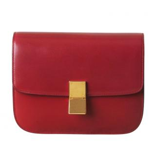 Celine Box Bag Medium Red