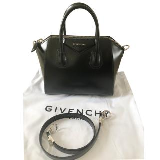 Givenchy Small Black Smooth Leather Antigona Bag