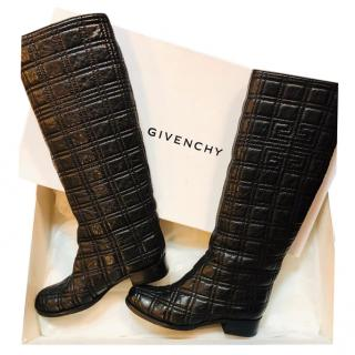 Givenchy quilted tall boots