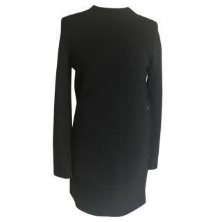 Hermes wool mini dress with side button detail