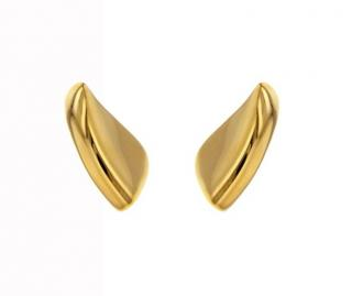 AS29 Gold Vermail Lobe Earrings