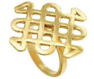 Pippa Small Gold Vermail Statement Ring