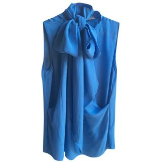 Emilio Pucci blue silk sleeveless top