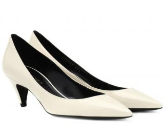 abf52a5ed382 Saint Laurent Charlotte 55 patent leather pumps