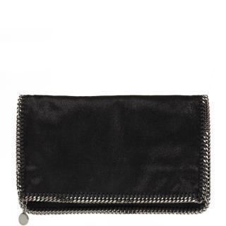 Stella Mccartney Black Artificial Leather Falabella Foldover Clutch
