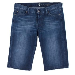 7 For All Mankind Josefina Denim Bermuda Shorts