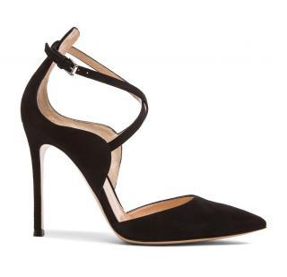 Gianvito Rossi Sisley Black Suede Strappy Sandals