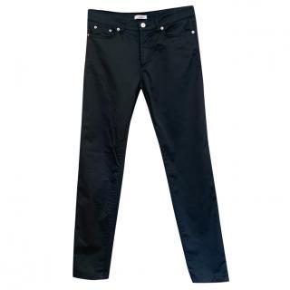 Versace Satin Look Stretch Cotton Jeans