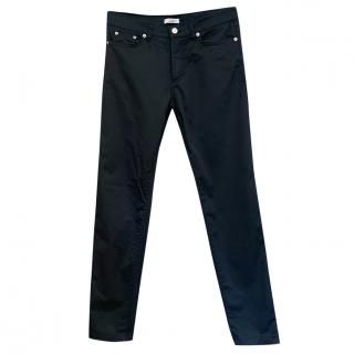 Versace Satin Look Stretch Cotton Jeans