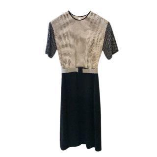 Victoria Victoria Beckham Silk Optic Print Dress