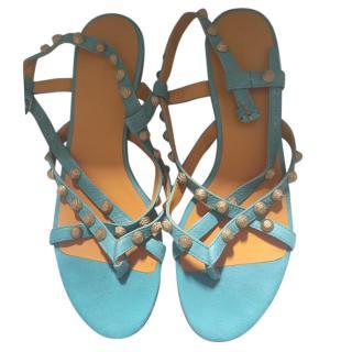 Balenciaga turquoise sandals