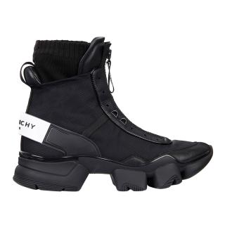 Givenchy nylon, leather & knit JAW high sneakers