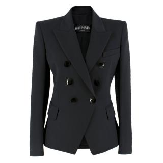Balmain double-breasted wool blazer with faceted buttons