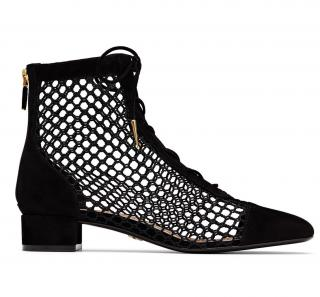 Dior Black Suede & Mesh Naughtily-d Ankle Boots