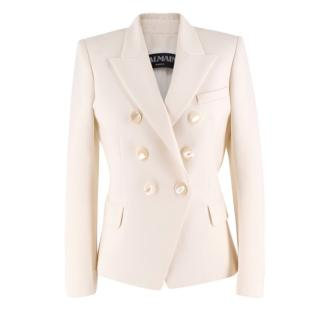 Balmain Double Breasted Cream Blazer