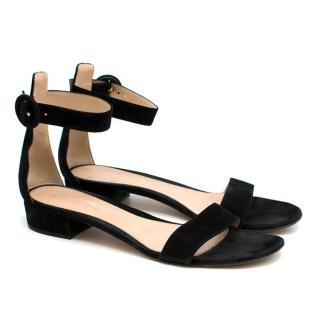 Gianvito Rossi Black Suede Sandals