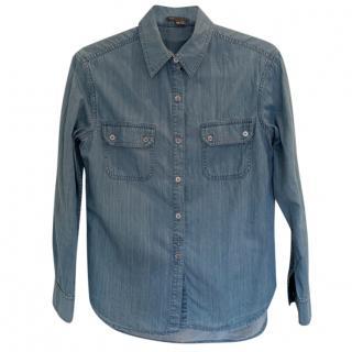 Vince blue denim shirt