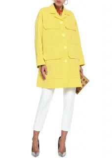 Emilio Pucci yellow matelasse oversized coat