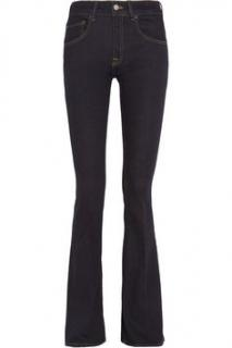 Victoria Beckham Big Twill Dark Indigo Stretch Flared Jeans