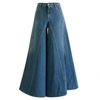 MM6 Maison Margiela Blue Denim Wide Leg Flared Jeans