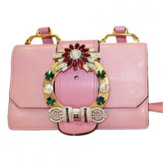 Miu Miu Pink Embellished Flap Bag