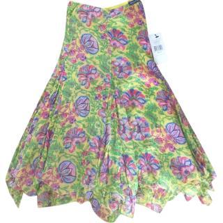 Ralph Lauren multi coloured silk skirt