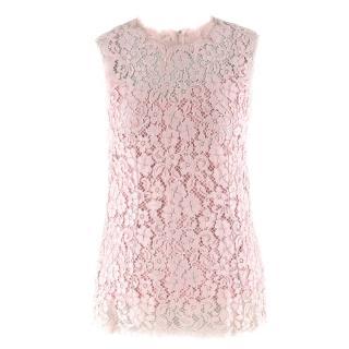 Dolce & Gabbana Blush Pink Lace Top