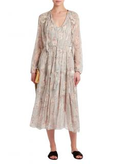 Zimmermann Stranded Glarland crinkle silk-chiffon dress