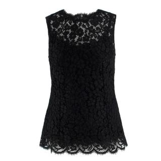 Dolce & Gabbana Black Lace Top