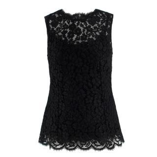 Dolce & Gabbana Black Lace Top