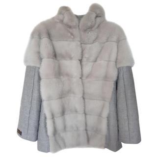 Vermorel Geneva Mink Fur & Cashmere Coat