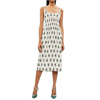 Emilia Wickstead Giovanna smocked crepe midi dress - New Season