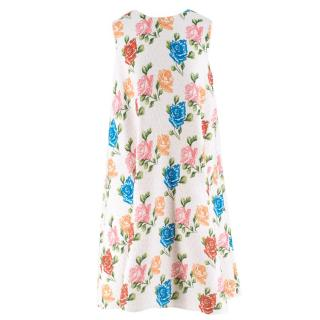 Emilia Wickstead White Floral Shift Dress
