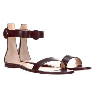 Gianvito Rossi Versilia 20mm brown leather sandals
