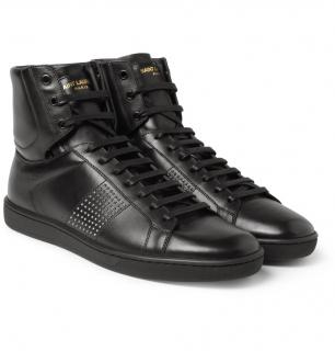 Saint Laurent Sl01h Studded Leather Hightop Sneakers