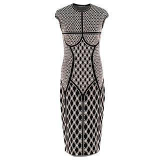 Alexander McQueen ornate-jacquard knit dress