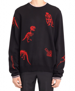 Lanvin cotton and wool jacquard jumper