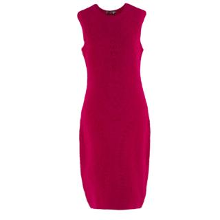 Alexander McQueen red matelasse-knit dress