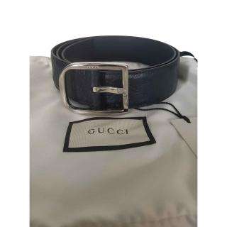 Gucci Men's Microguccissima Navy Blue Belt