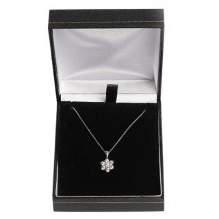 Bespoke Diamond Flower Pendant White Necklace
